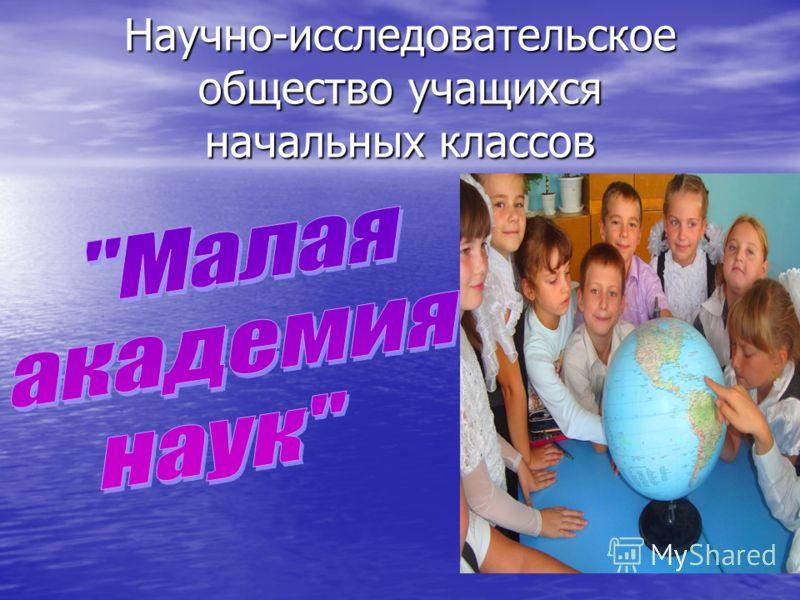 Научно-исследовательское общество учащихся начальных классов