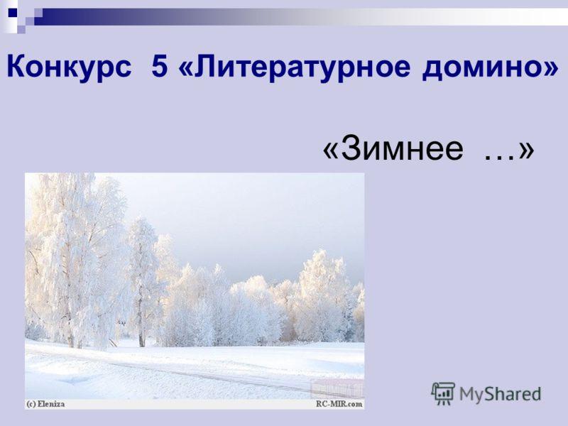 Конкурс 5 «Литературное домино» «Зимнее …»