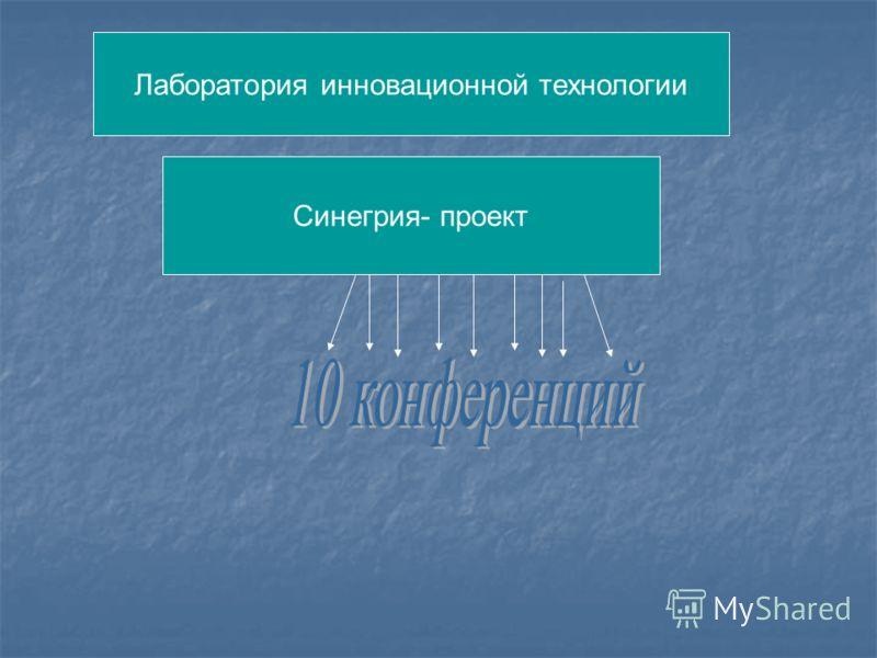 Лаборатория инновационной технологии Синегрия- проект