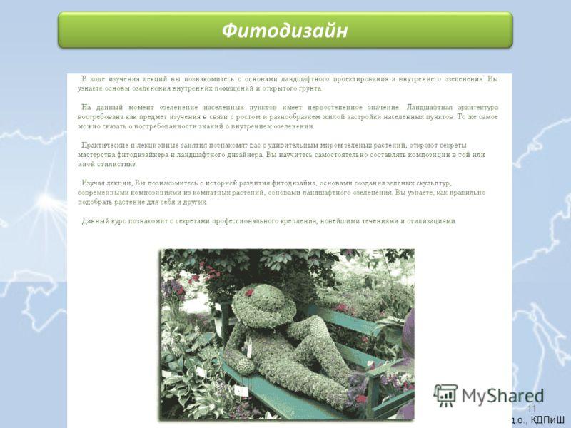 Голикова М.Н., педагог д.о., КДПиШ Фитодизайн 11