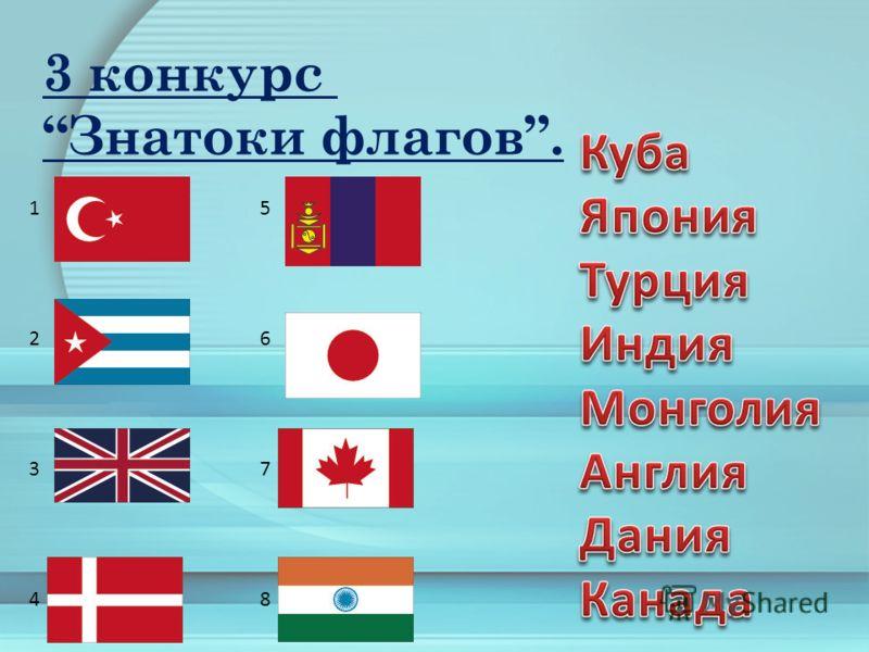 3 конкурс Знатоки флагов. 12341234 56785678