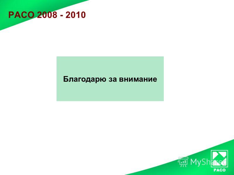 РАСО 2008 - 2010 Благодарю за внимание