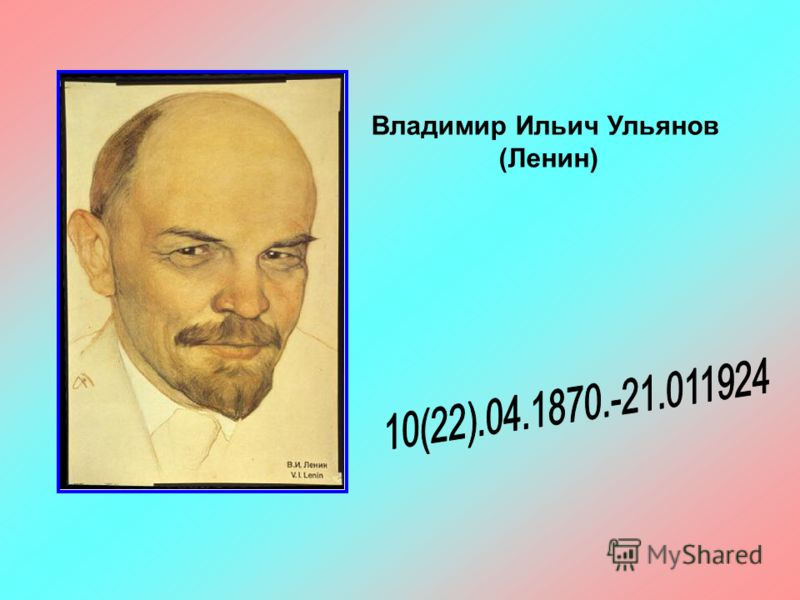 Владимир ильич ульянов ленин