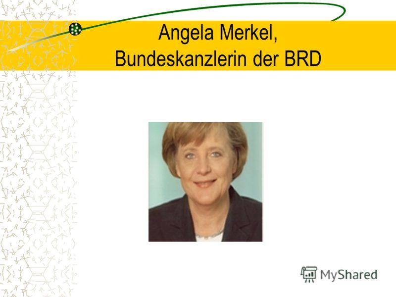 Angela Merkel, Bundeskanzlerin der BRD