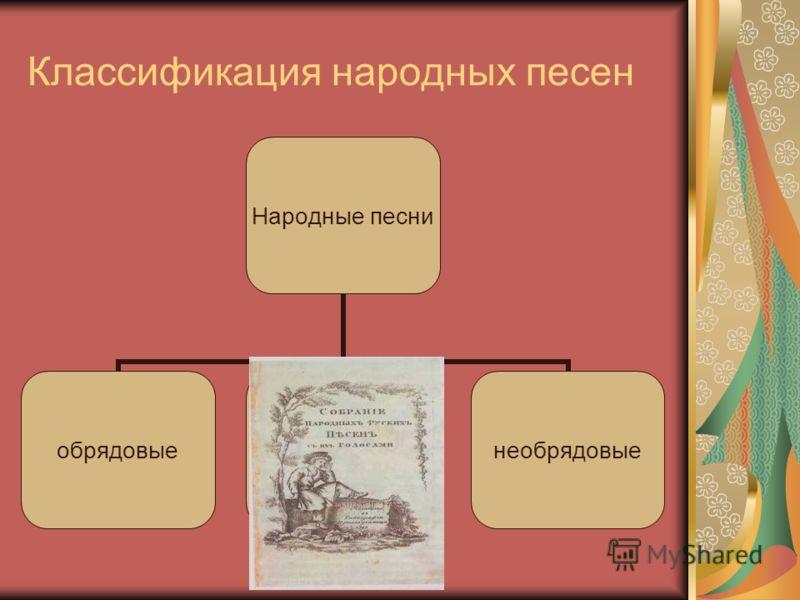 Классификация народных песен
