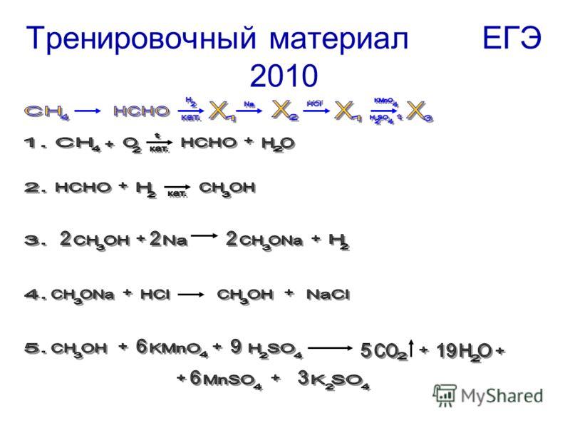 Тренировочный материал ЕГЭ 2010