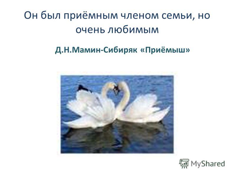 Он был приёмным членом семьи, но очень любимым Д.Н.Мамин-Сибиряк «Приёмыш»