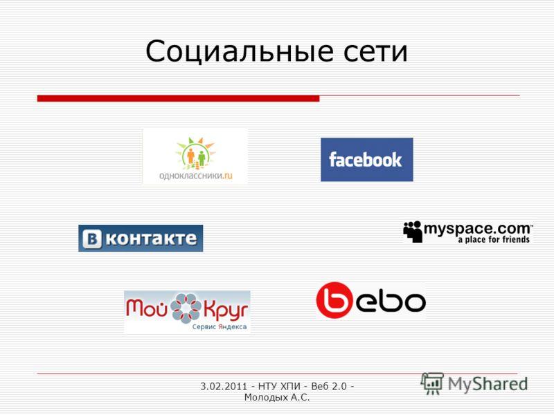 3.02.2011 - НТУ ХПИ - Веб 2.0 - Молодых А.С. Социальные сети