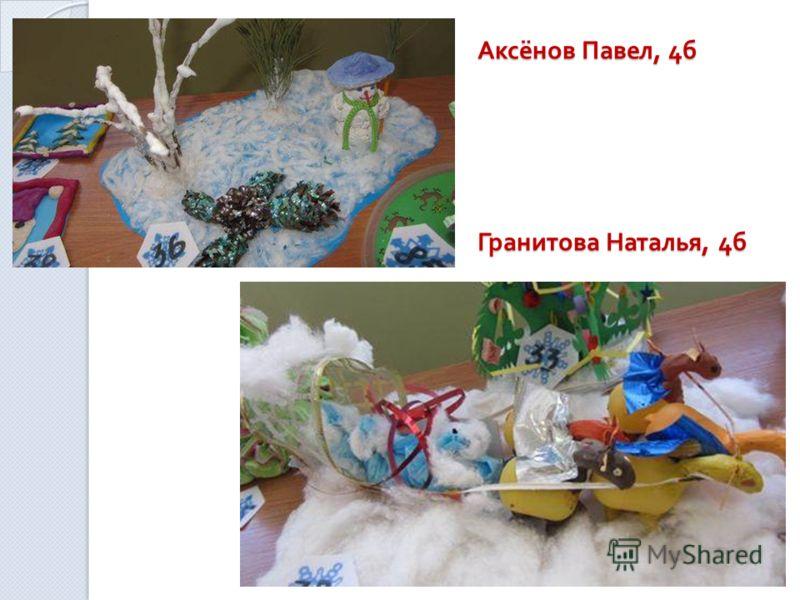 Аксёнов Павел, 4 б Гранитова Наталья, 4 б