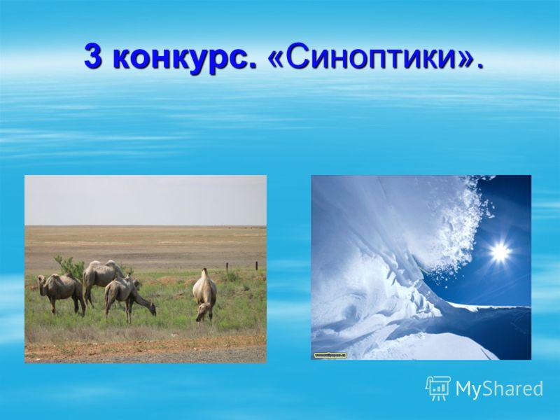 3 конкурс. «Синоптики». 3 конкурс. «Синоптики».