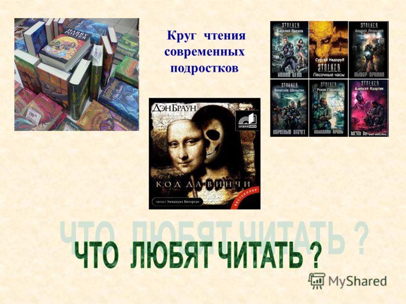 Круг чтения современных подростков