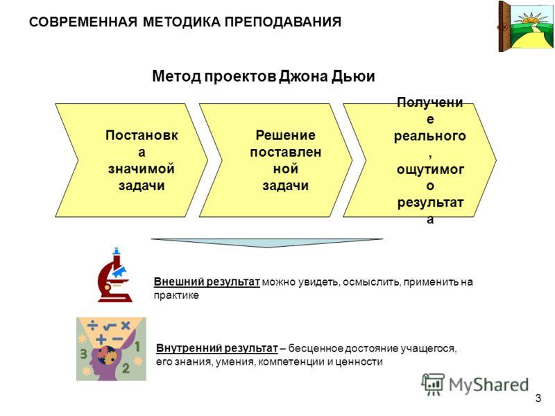 2 Классно-урочная система Цель учителя: «пройти» программу Цель ученика: стать умнее выучить то, что пригодится на экзамене перетерпеть годы школьной учебы КЛАССИЧЕСКАЯ МЕТОДИКА ПРЕПОДАВАНИЯ