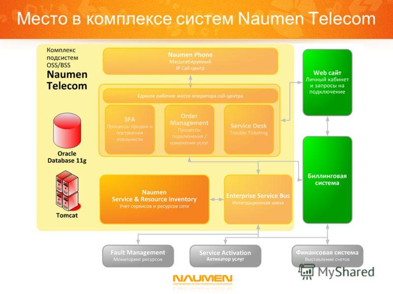 Место в комплексе систем Naumen Telecom