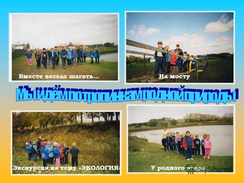 У родного озера Экскурсия на тему «ЭКОЛОГИЯ» Вместе весело шагать...На мосту