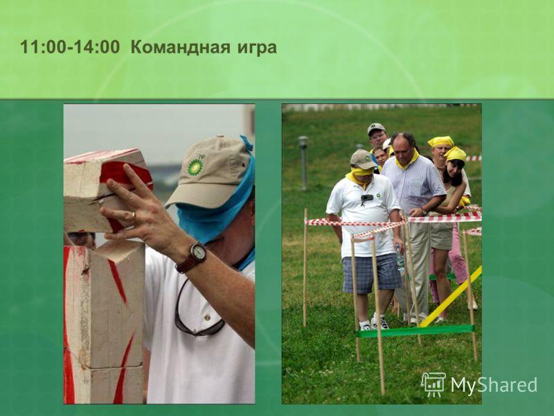 11:00-14:00 Командная игра