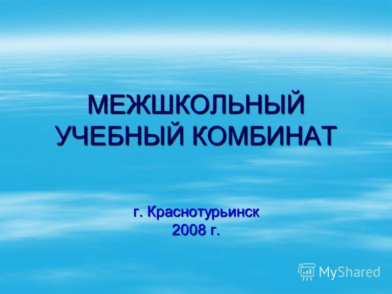 МЕЖШКОЛЬНЫЙ УЧЕБНЫЙ КОМБИНАТ г. Краснотурьинск 2008 г.
