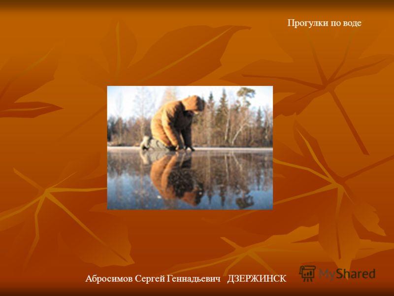 Прогулки по воде Абросимов Сергей Геннадьевич ДЗЕРЖИНСК