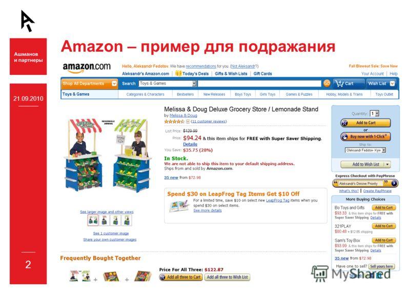 21.09.2010 2 Amazon – пример для подражания