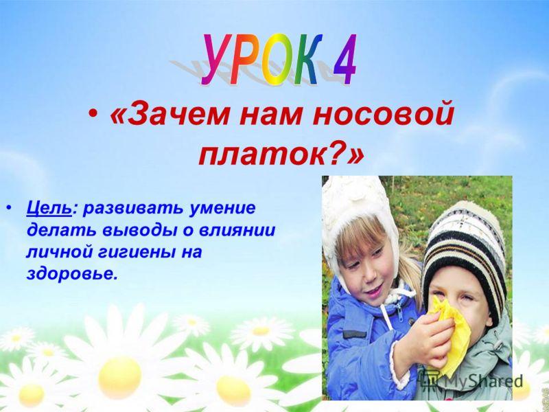 Цель: познакомить детей с правилами поведения при заболеваниях органов дыхания.