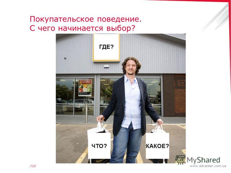 www.advanter.com.ua/13/ ЧТО?КАКОЕ? ГДЕ? Покупательское поведение. С чего начинается выбор?