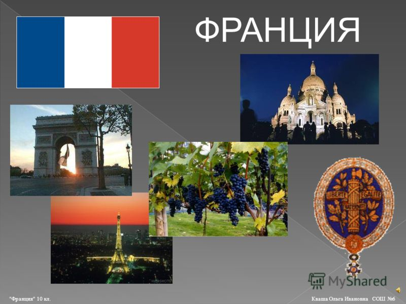 ФРАНЦИЯ Франция 10 кл. Кваша Ольга Ивановна СОШ 6