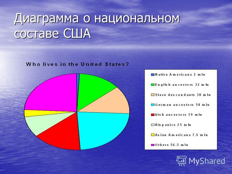 Диаграмма о национальном составе США