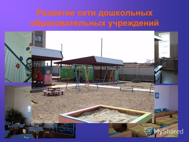 Развитие сети дошкольных образовательных учреждений