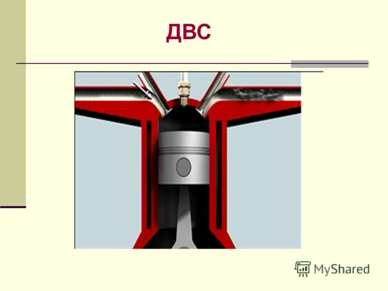 1, 2 - клапаны 3 - поршень 4 - шатун 5 - коленчатый вал 6 - свеча Двигатель внутреннего сгорания