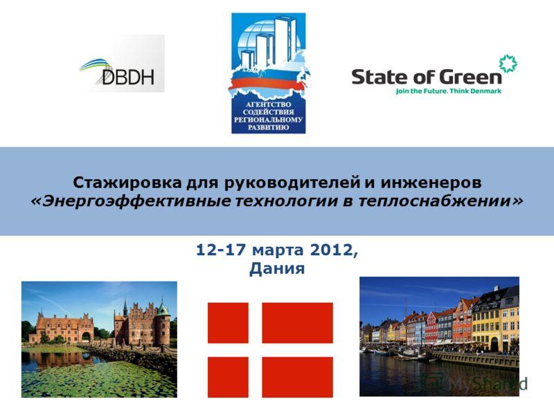 Стажировка для руководителей и инженеров «Энергоэффективные технологии в теплоснабжении» 12-17 марта 2012, Дания