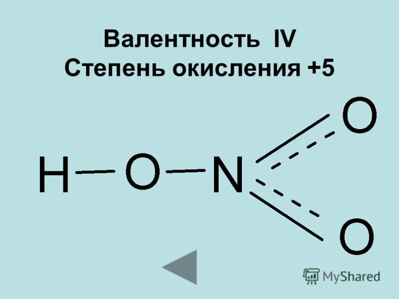 Валентность IV Степень окисления +5
