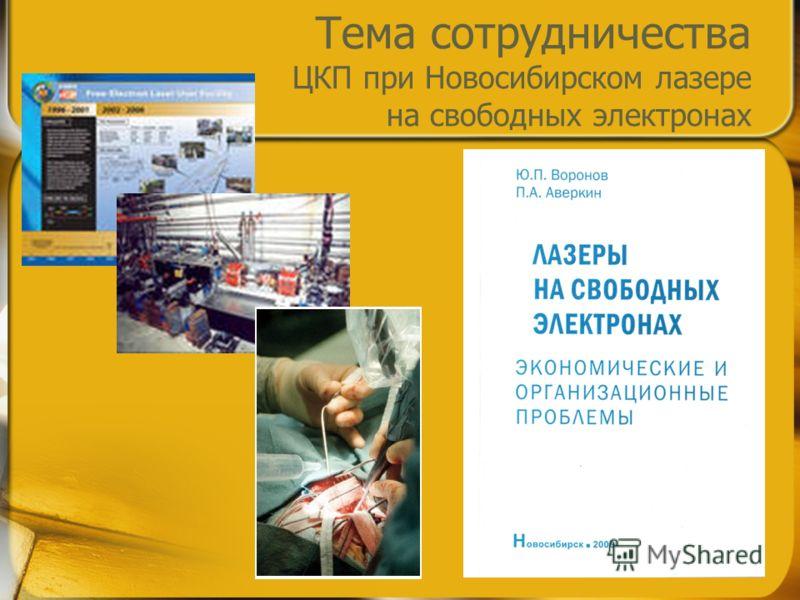 Тема сотрудничества ЦКП при Новосибирском лазере на свободных электронах