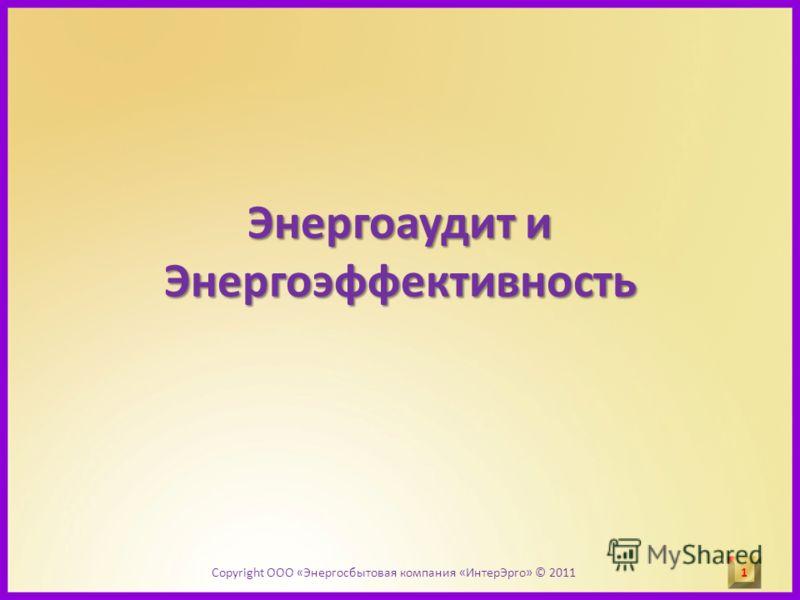 Энергоаудит и Энергоэффективность 1 1 Copyright ООО «Энергосбытовая компания «ИнтерЭрго» © 2011