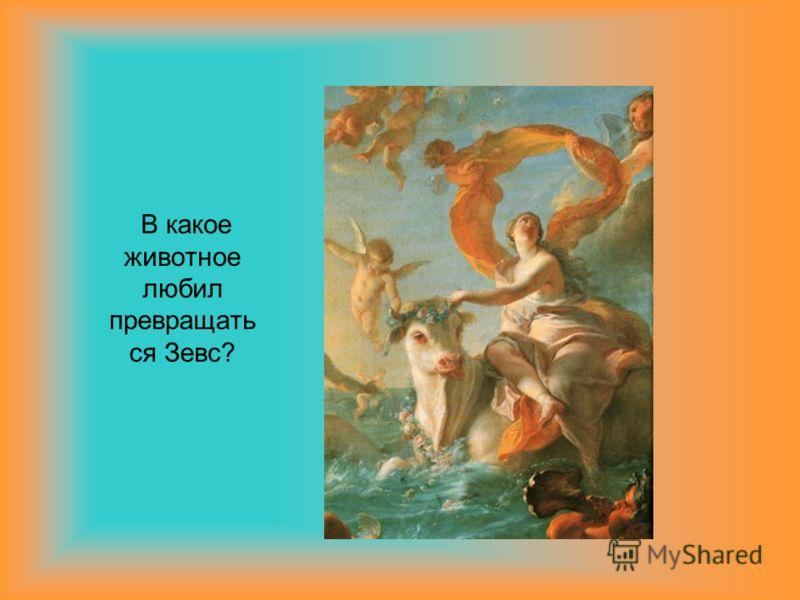 В какое животное любил превращать ся Зевс?