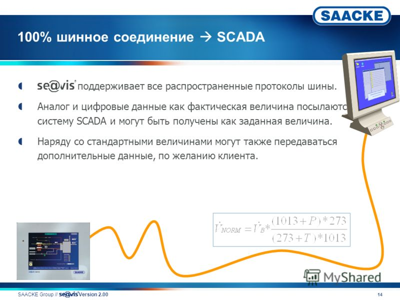 14 100% шинное соединение SCADA v поддерживает все распространенные протоколы шины. Аналог и цифровые данные как фактическая величина посылаются на систему SCADA и могут быть получены как заданная величина. Наряду со стандартными величинами могут так