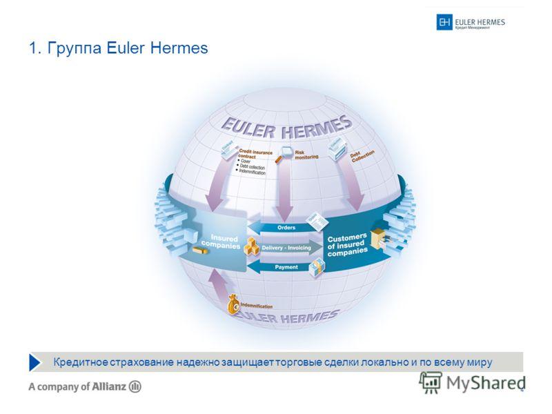 4 1. Группа Euler Hermes Кредитное страхование надежно защищает торговые сделки локально и по всему миру