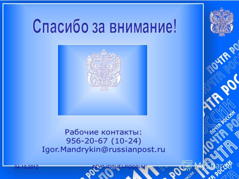 19.07.2012ФГУП ПОЧТА РОССИИ12