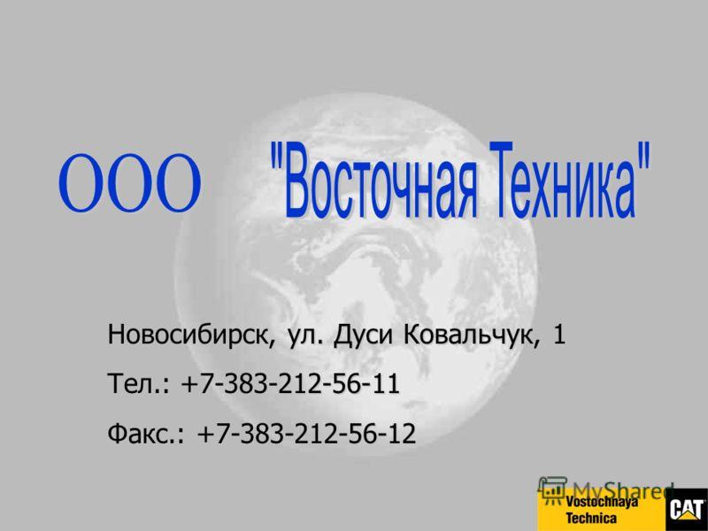 Новосибирск, ул. Дуси Ковальчук, 1 Тел.: +7-383-212-56-11 Факс.: +7-383-212-56-12