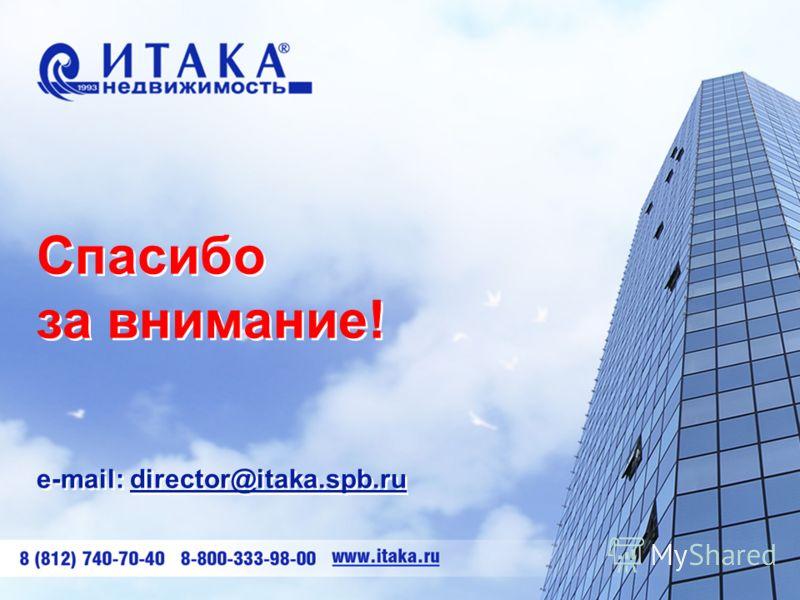 Спасибо за внимание! e-mail: director@itaka.spb.ru Спасибо за внимание! e-mail: director@itaka.spb.ru