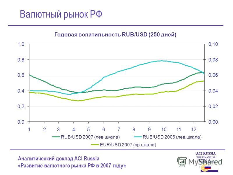 Аналитический доклад ACI Russia «Развитие валютного рынка РФ в 2007 году» Валютный рынок РФ