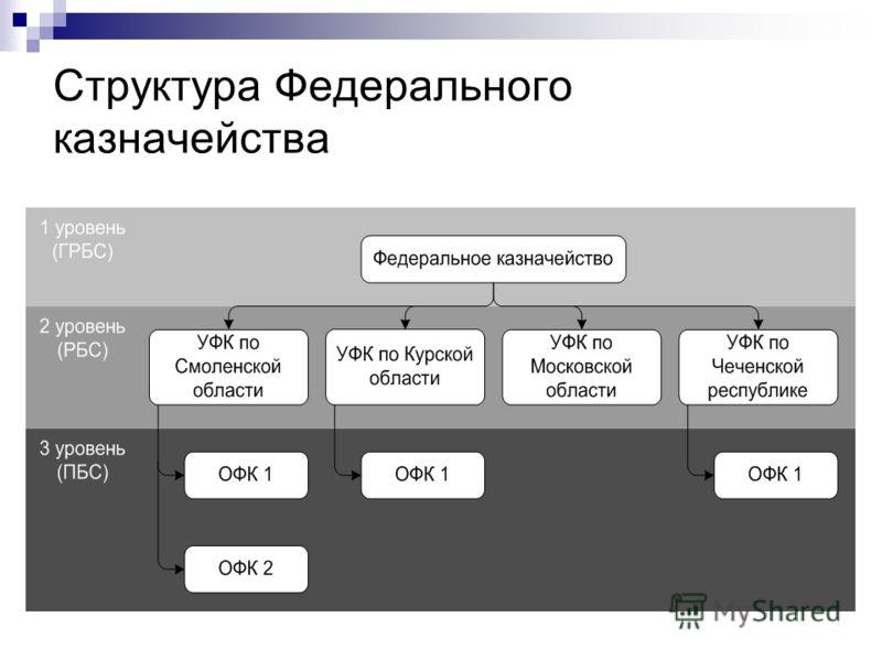 Структура Федерального казначейства
