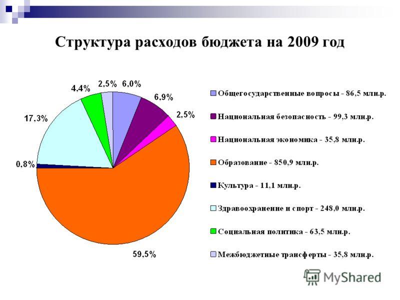 Структура расходов бюджета на 2009 год