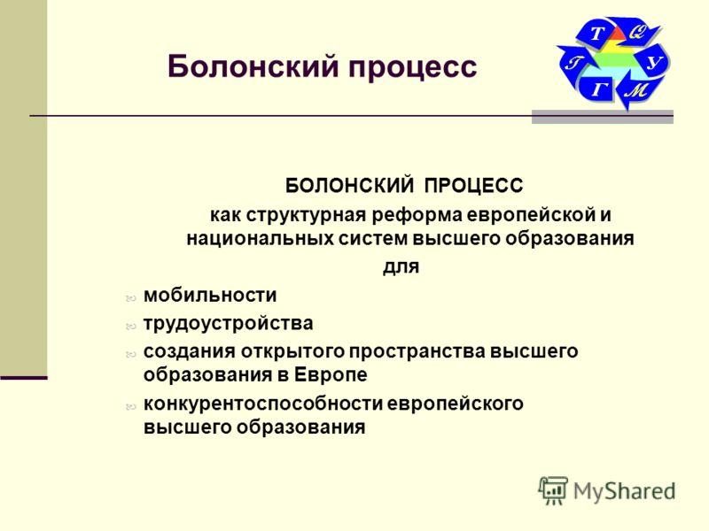 болонский процесс для россии