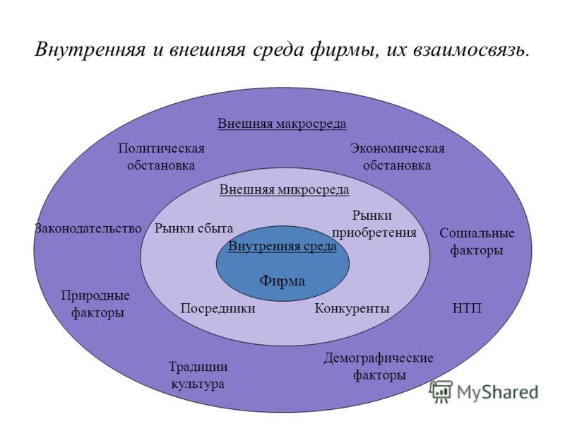 Внутренняя среда Фирма