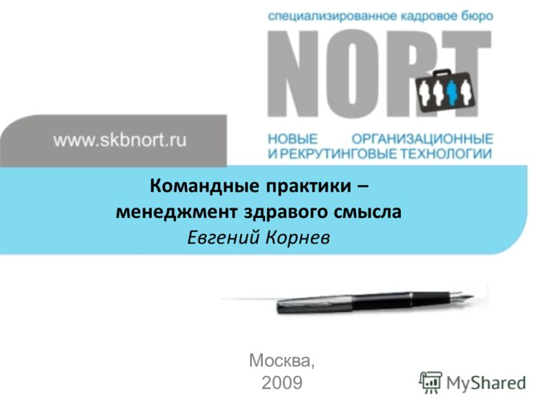 Командные практики – менеджмент здравого смысла Евгений Корнев Москва, 2009