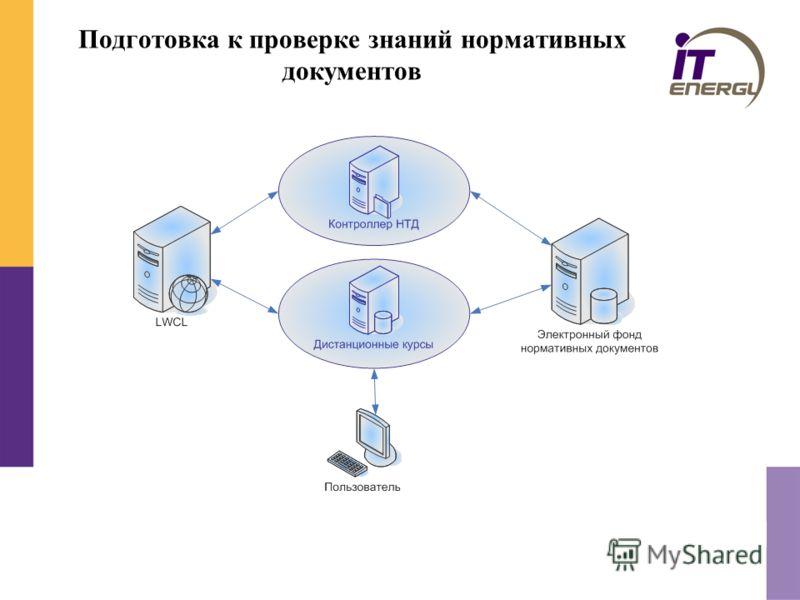 Подготовка к проверке знаний нормативных документов
