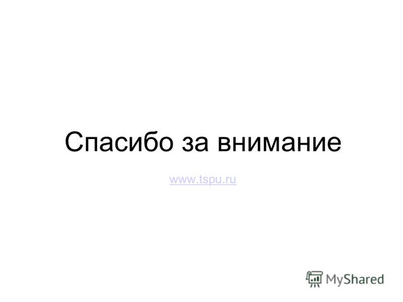 Спасибо за внимание www.tspu.ru
