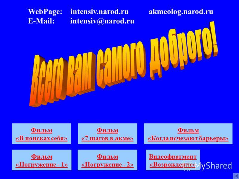 Сайт Акме Сайт Интенсив Дист. обуч. Медиа