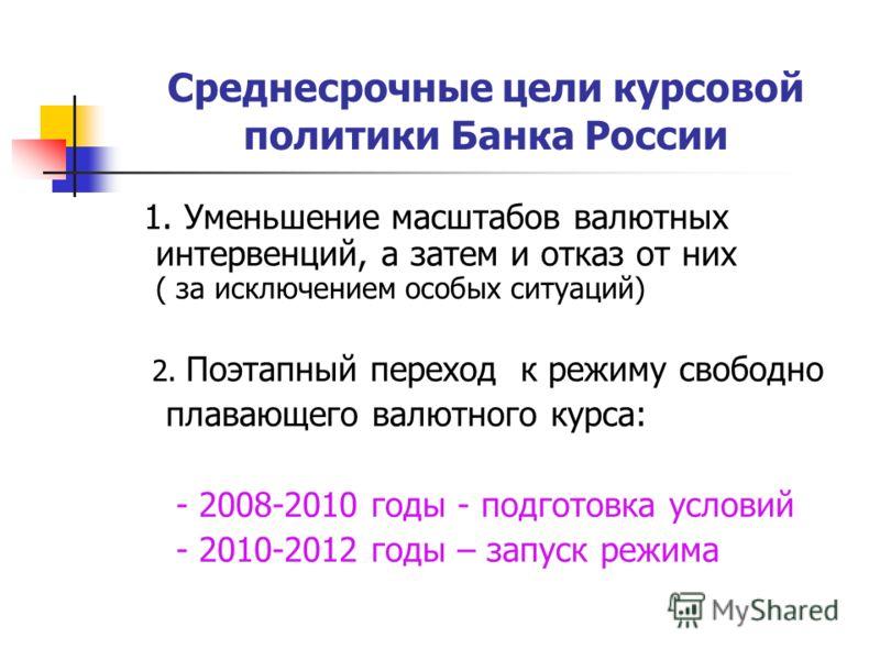 Презентация на тему Александр Хандруев О курсовой политике Банка  16 Среднесрочные цели курсовой политики Банка России