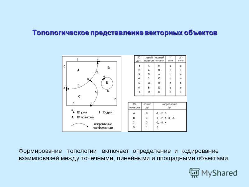 Топологическое представление векторных объектов
