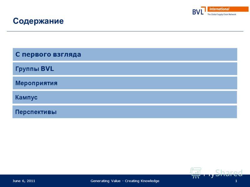 Приносим пользу Создаём знания BVL – Обзор